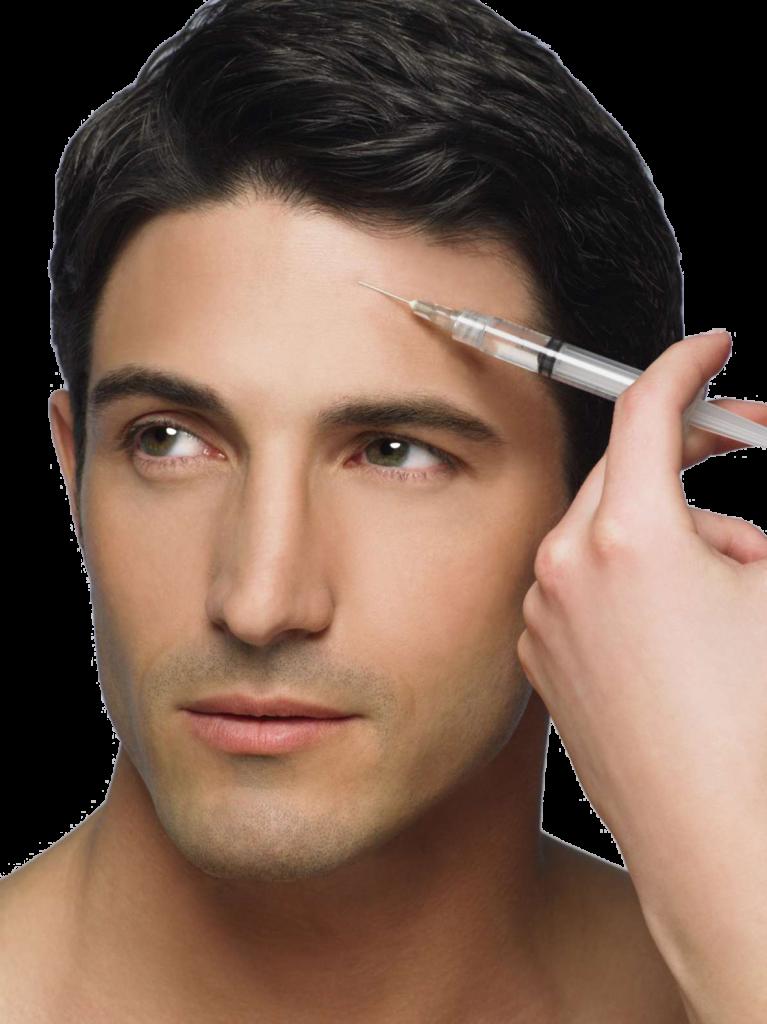 La  toxina botulínica o botox para hombres